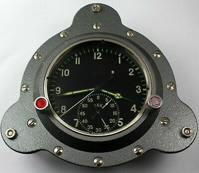 Rare Board Chronograph Mig 61 Tschp Cccp Air Force Navy Watercraft Clock