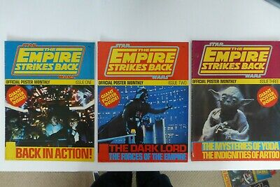 Star Wars The Empire Strikes Back Official Poster Magazine Issue # 1 # 2 & # 3