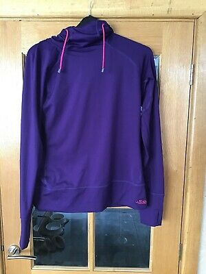 Ladies RAB Cipher Purple Hoodie - Size 16 - Good Condition