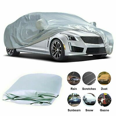 Heavy Duty Full Car Cover Waterproof UV Protection Breathable Outdoor Large Size