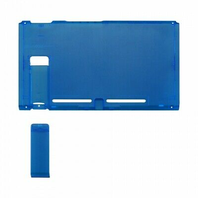 Housing shell for Nintendo Switch console back plate case - Clear blue | ZedLabz