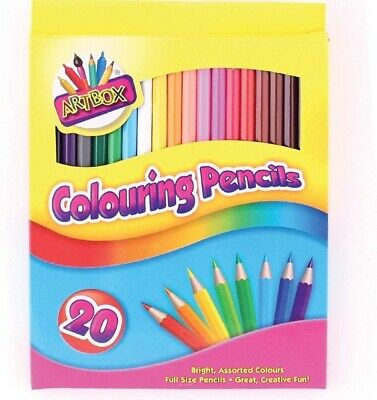 Artbox 20 full size colouring pencils set of 20 assorted colours pencils
