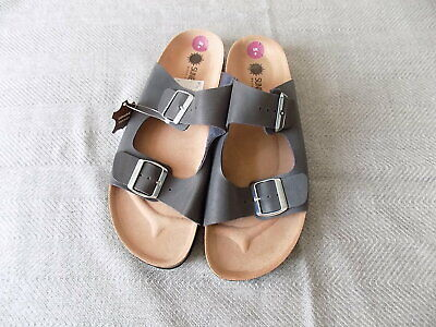 Men' SUNE Island Sandal Made in Spain Genuine leather size 9 Colour Grey RRP £59