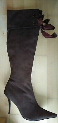 Ladies Knee Boots Panto /Pirate Style Boots Size 6