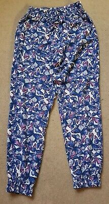 Girls Butterfly Print Girls Trousers, 8-9 Years, Used, GC