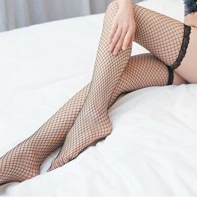 Sexy High Mesh Stockings Fishnet Thigh Lace Women Pantyhose Lingerie Lady