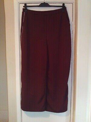 ladies plum wide leg trousers from New Look Curves size 24 in great condition