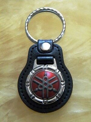 Yamaha Leather Keyring For Motorcycle Tuning Forks Handmade Laser Cut Gift