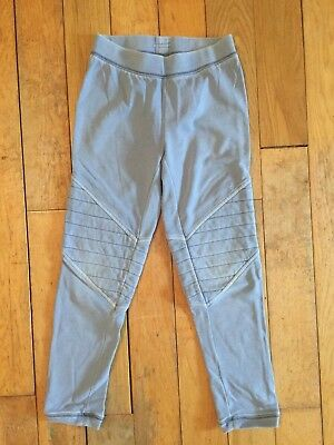 Gap Kids Girls Soft Jersey Cotton Biker Style Sweatpant Trousers M 8 Years Grey