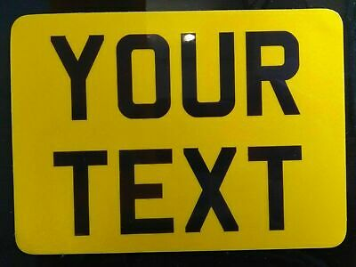 """7"""" x 5""""  + 3D Novelty Motorcycle Motorbike Number Plate Free"""