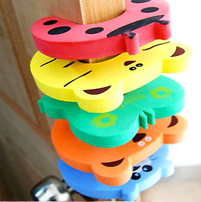 5X Cartoon Door Stop Stopper Wedge Protection Finger Safety Baby Child Anti Lock