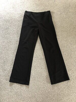 Girls Black Trousers Age 12