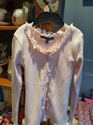 LILI GAUFRETTE Girls Twinset. Age 8. Beautiful Baby pink. IN EXCELLENT CONDITION