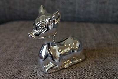 Silver coloured Deer moneybox - christening, new baby gift