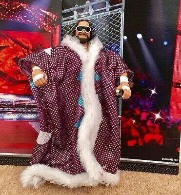 WWE Mattel figure ELITE DEFINING MOMENTS Wrestling MACHO RANDY SAVAGE Wwf Toy