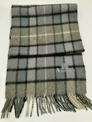 Aquascutum Vintage grey bluish winter Scarf Scarves