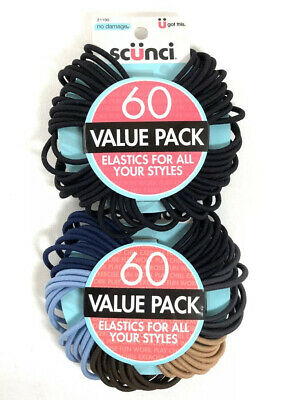 1 Package Of 18ct  Scunci Hair Ties Assorted Satin Sparkly Shimmer Colors NIP