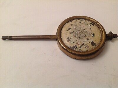 Antique Clock Brass Pendulum Bob 89g 50mm Diameter  125mm Long For Spare Parts