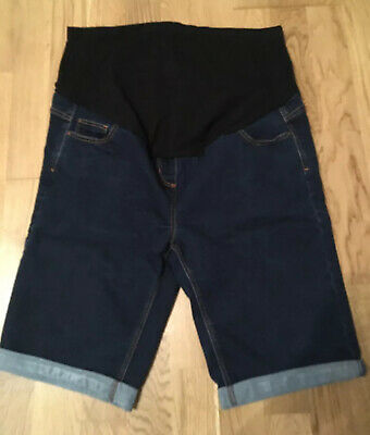 Maternity Denim Shorts Size 16 George Over The Bump Worn Once