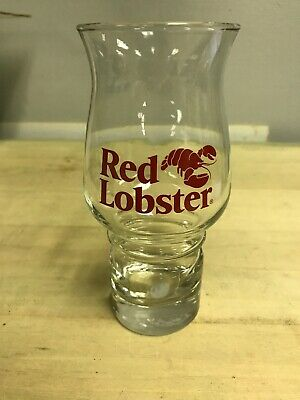 VINTAGE RED LOBSTER COLLECTIBLE PILSNER BEER HURRICANE GLASS