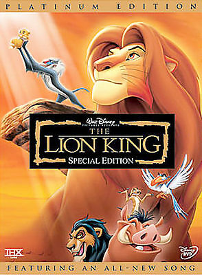 The Lion King (DVD, 2003, 2-Disc Set, Platinum Edition) w/slipcover, Brand New!