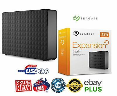 SEAGATE 8TB Expansion Desktop External USB 2.0 3.0 HDD Hard Drive NEW