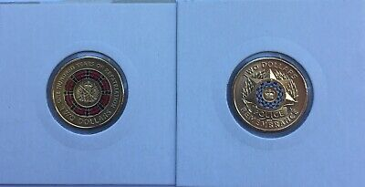 2019 Anzac 100 Years of Repatriation & Police Remembrance $2 Two Dollar Coin UNC
