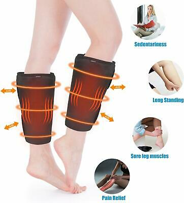 Air Compression Leg Massager Heat Calf Arm Wrap Circulation Relaxation Therapy