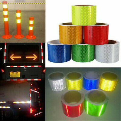 New Safety Warning Super Reflective Conspicuity Tape Adhesive Sticker Truck Car