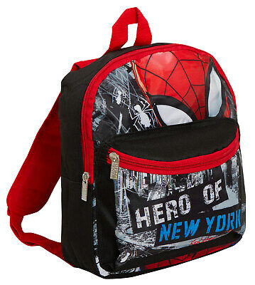 Marvel Spiderman Boys Backpack Kids Avengers School Lunch Book Bag Rucksack