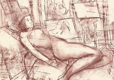 Peter Collins ARCA - c.1970s Pastel, Nude in a Life Drawing Class