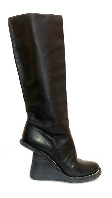Handmade Guidi Black Leather Knee High Boots Sz 37 *Artisan Lover