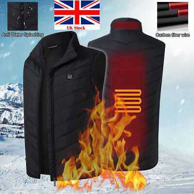 USB Electric Vest Heated Jacket Thermal Heating Pad Body Warmer Winter Clothing
