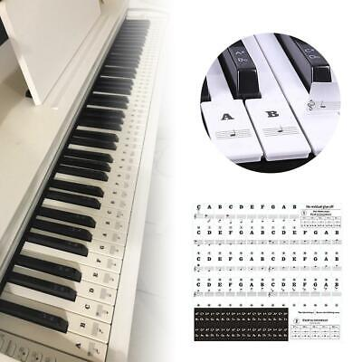 Universal Piano Learner Stickers Music Piano 54/61/88 Key Note Keyboard Decals