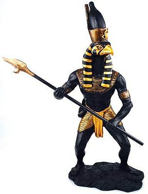 Horus Black Egypt Egyptian Falcon Statue God Protect Gold Pharoah Power Bird Eye