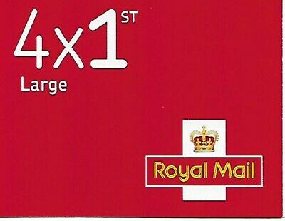 Royal Mail Stamps First Class 4 x 1st Class Large Letter Stamps Brand New