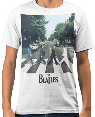 The Beatles 'Abbey Road' Coloured 60's Rock Official Band T-Shirt
