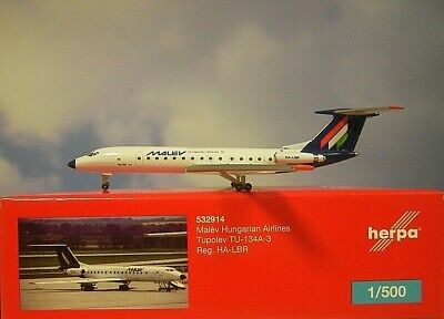 Herpa Wings 1:500 TU-134A-3 Malev Hungarian Airlines 532914