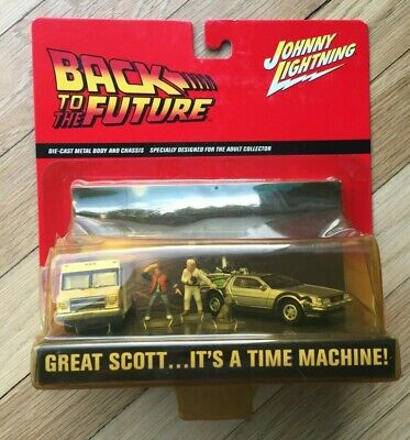 Johnny Lightning Back to the Future Diorama DeLorean Time Machine Die-Cast Model
