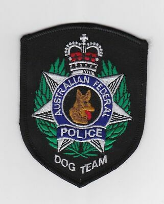 Australian Federal Police Dog Team Mint Patch.
