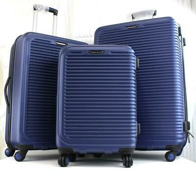 Travel Select Savannah 3 Piece Hardside Spinner Luggage Set Blue