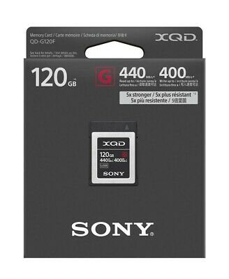 Sony Memory Card XQD G Series 120gb 440mb/s Read 400mb/s (QDG120F)
