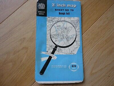 "vintage Ordnance Survey 2.5""map of Baugh Fell, sheet SD 79, 1958"