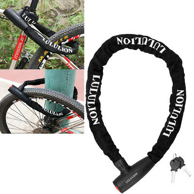 Heavy Duty Security Anti-Theft Bike Chain Lock for Bicycle Motorcycle Door Gate