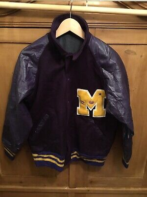 Vintage Michigan Varsity Jacket Adults Large. Very Rare.