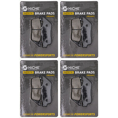 NICHE Brake Pad Set Honda Shadow Ace 750 Triumph BMW Front Rear Organic 4 Pack