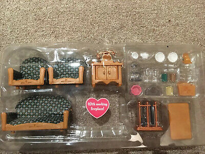 Boxed Sylvanian Families Deluxe Living Room Furniture