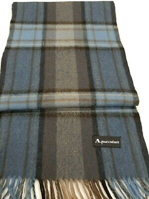 Aquascutum Blue vintage winter Scarf in very good condition