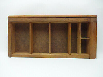 """Small Shelf for Miniatures 10 3/4"""" x 5 1/8"""" made from Printer's Type Case"""
