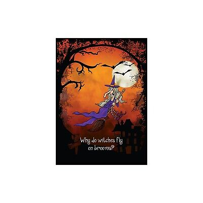 Witch Way? Halloween Greeting Card & Envelope by Tree Free